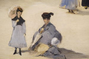 On the Beach Boulogne-sur-Mer by Edouard Manet French Oil dated 1868 image 4
