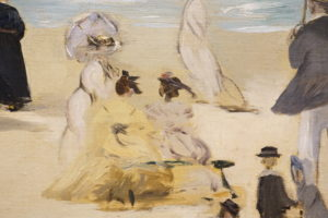 On the Beach Boulogne-sur-Mer by Edouard Manet French Oil dated 1868 image 8