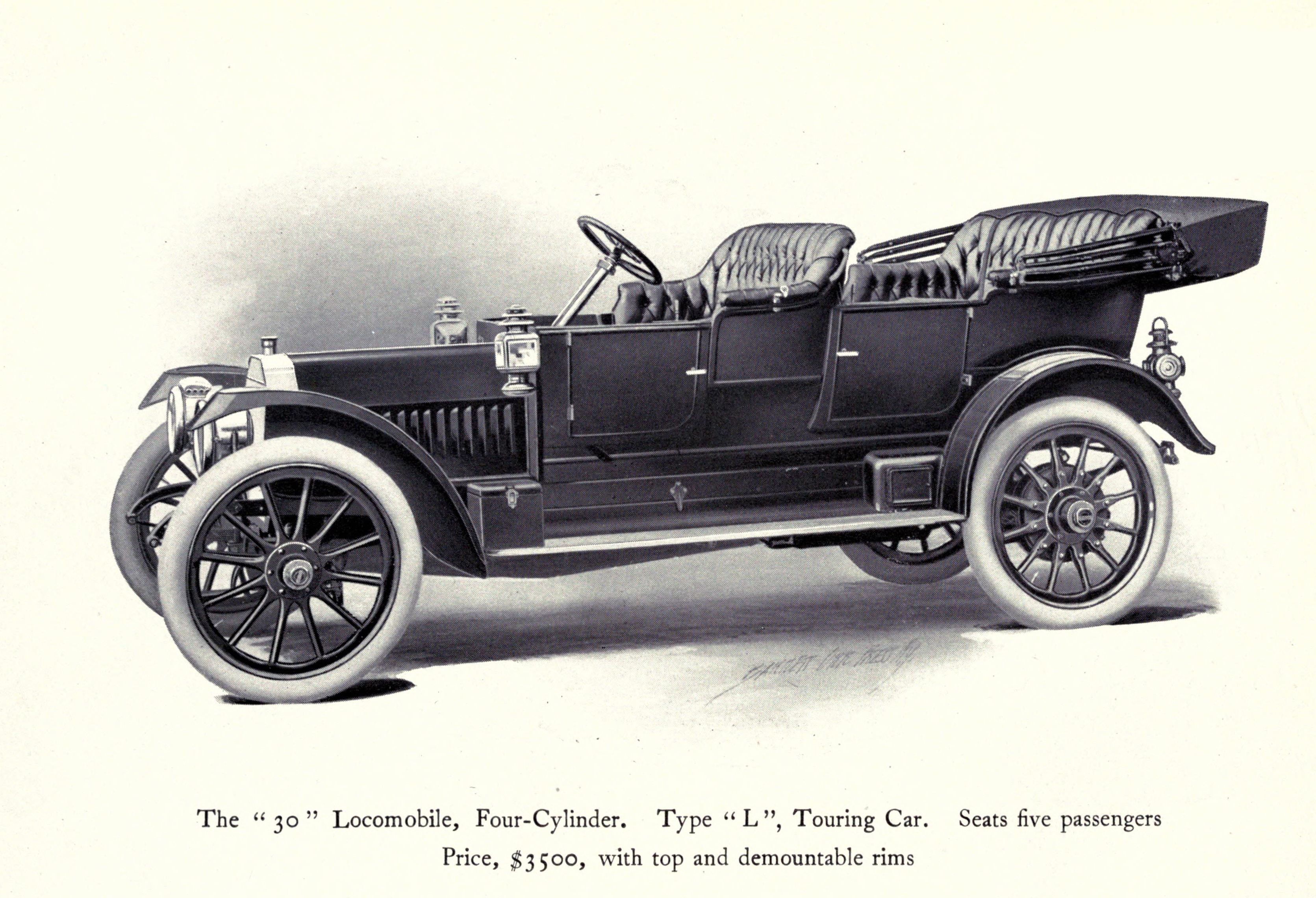 Illustration of a Touring Car Type L 30 Locomobile Company circa ...
