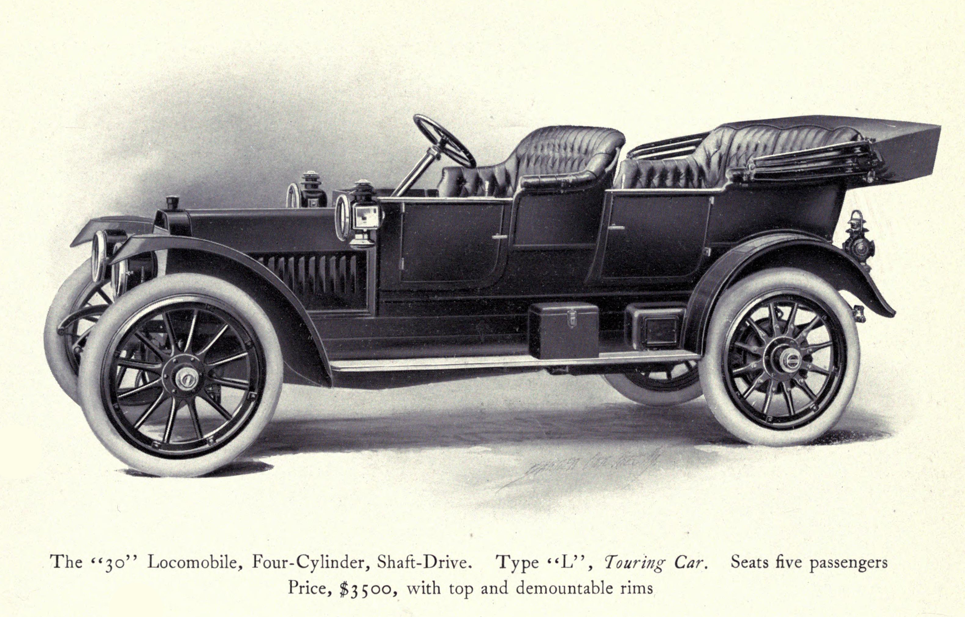 Model 30 Type L Touring Car Illustration - Locomobile Co 1912 -