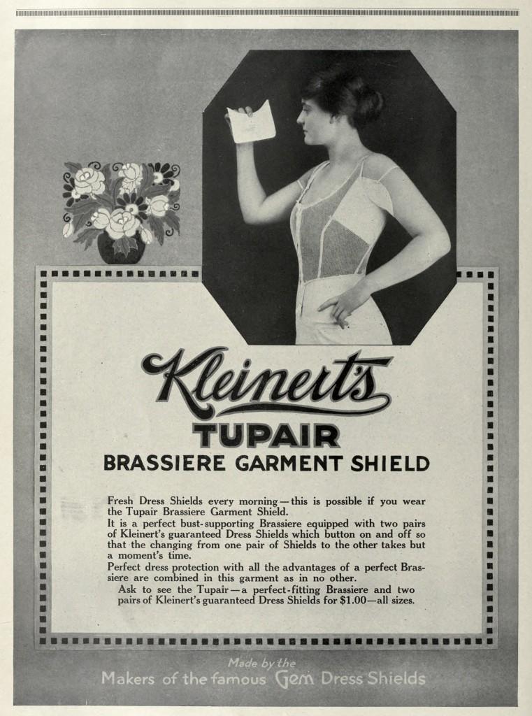 Kleinert's Dress Shields Advertisement circa 1916