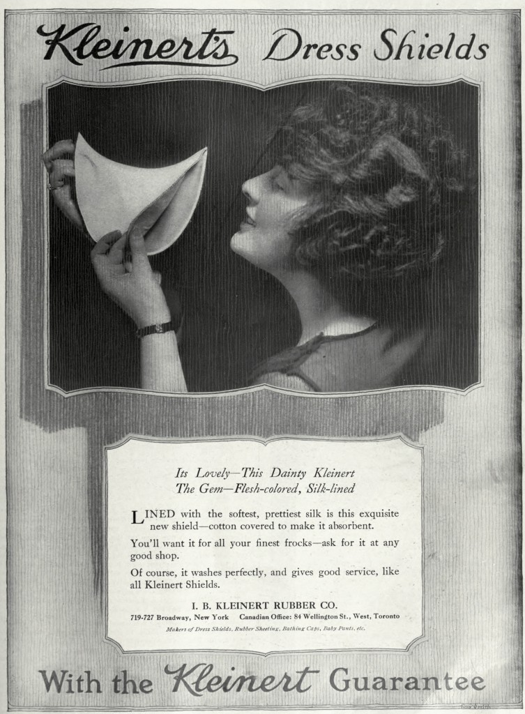Kleinert's Dress Shields Advertisement circa 1917