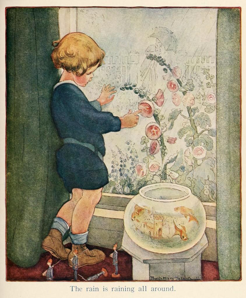 The Rain - Illustration by Mary Ruth Hallock