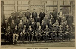 Thomas Edison's Orange Laboratory Staff Photograph Cassier's circa 1893