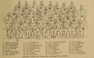 Legend of Thomas Edison's Orange Laboratory Staff Photograph Cassier's circa 1893